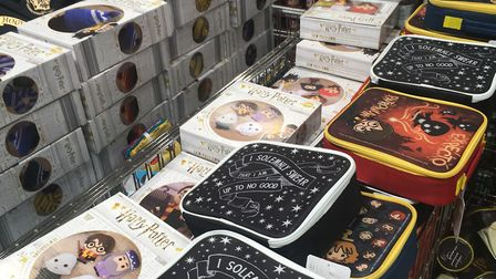 Lunch bags and pencil cases will prove popular with younger Harry Potter fans in Ipswich : SUZANNE D