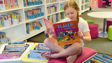 Chantry Library celebrate Elmer's birthday by holding a special Elmer Day in their newly refurbished