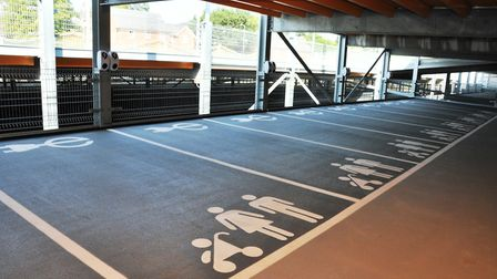Family bays and electric car charging points are available at Crown Car Park Picture: IPSWICH BOROUG