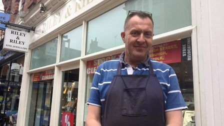 Riley & Riley is closing its Ipswich store after 15 years in the town. Pictured is owner Mark Riley