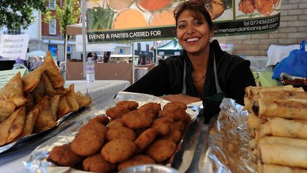 Mena Boughey of Mena's Indian Banquet will be at the Ipswich Farmers' Market on the Cornhill next we