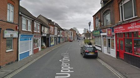 A man presented to Ipswich Hospital is thought to have come by his injuries in Upper Orwell Street,