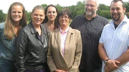 Memories of Susan Hughes with her family. Picture: Family