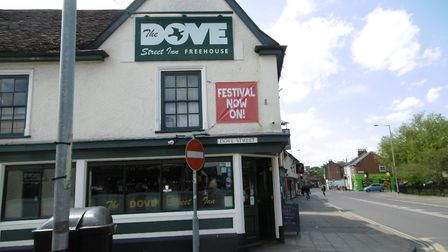 Thousands of pints at the Dove Street Inn Spring Bank Holiday Beer Festival. Picture: DAVID VINCENT