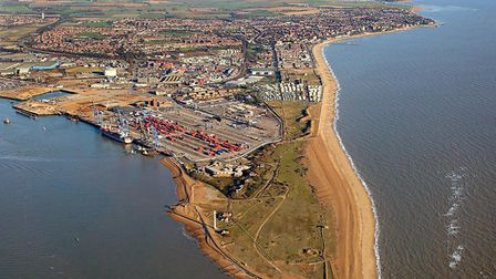 The Landguard peninusla at Felixstowe - a shingle spit which attracts thousands of migrant birds eve