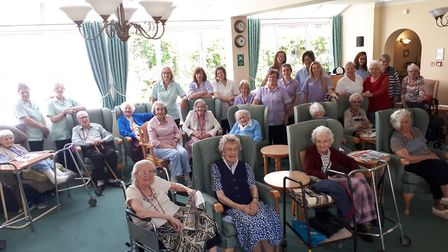 Staff and residents at White Gables were delighted with the rating Picture: ALISON HUDSON