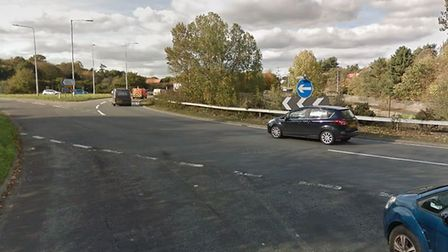 A motorist has been taken to hospital following a crash near the Seven Hills roundabout Picture: GOO