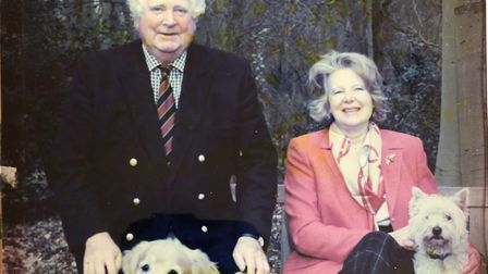 Andrew Rodwell was devoted to his wife Sue and their daughters, says Camilla. (The dogs are the late