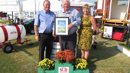 Another triumph. An award in 2013 for SCH (Supplies) Ltd's Ian Holder, Andrew Rodwell, and sales and