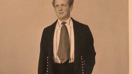 Andrew Rodwell resplendent in his Eton rowing uniform Picture: FAMILY COLLECTION