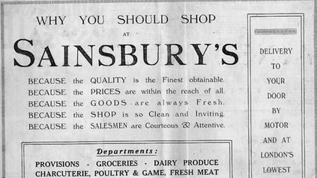 """This ad appeared in the East Anglian Daily Times in July 1938 - note """"delivery to your door by moto"""