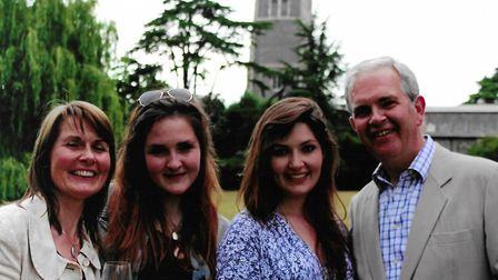 Ruth, Anna, Lara and Nick Garrett at their farewell event at The Abbey, in June, 2015 Picture: FAM
