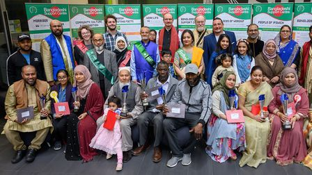 Judges, sponsors and winners at the multicultural Pita Festiva 2019, held at Suffolk New College, Ip