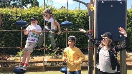 Pupils at Castle Hill Primary School dressed in 'bling' at school on Friday Picture: ELLA WILKINSON