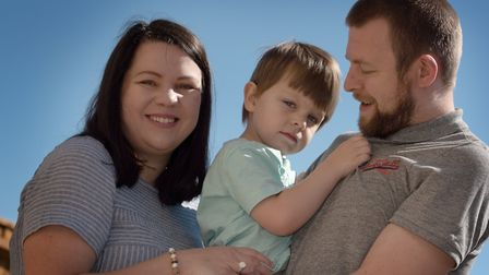 Daniella and Gareth Kentfield with their son Alex Picture: SARAH LUCY BROWN