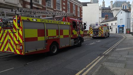The premises in Elm Street was evacuated after crews were alerted to a blaze in the kitchen Picture: