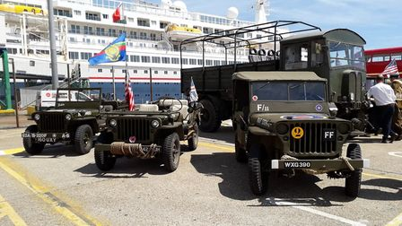 Celebrations were held in Dover as veterans boarded the Fred. Olsen ship ready for the week-long tri