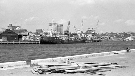 View of what the Ipswich docks used to look like in 1979 Picture: OWEN HINES