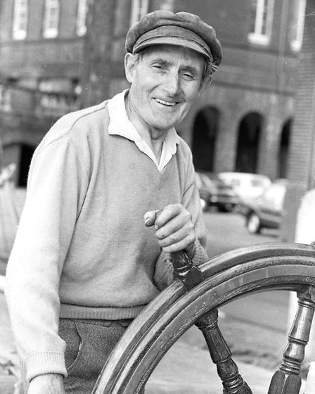 A sailor at the wheel at Ipswich docks in 1979 Picture: OWEN HINES