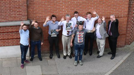 Archant men come together with Dan Somers to support men with mental health problems. Picture: CHARL