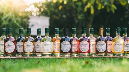 Range of infusions produced by the Tiny Tipple Company