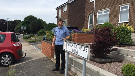 Tony Blacker who lives on Prince of Wales Drive in Ipswich has lost patience with Anglian Water and