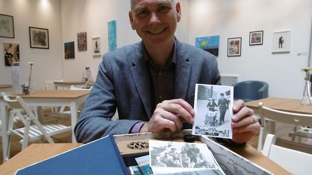 Suffolk businessman John Royle with his prototype Chronicle Memory Box, which his is launching at th