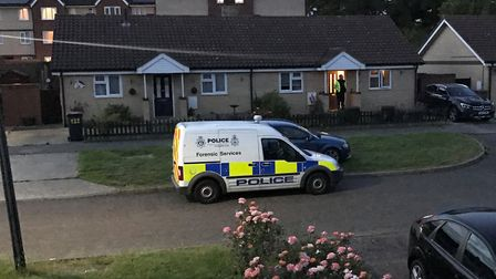 Polcie officers are investiagating the death of a woman in Waterford road, Ipswich. Picture: CONTRI