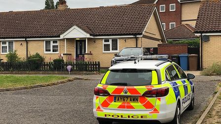 Police officers are investigating and 'unexplained death' at a house in Waterford Road, Ipswich. Pic