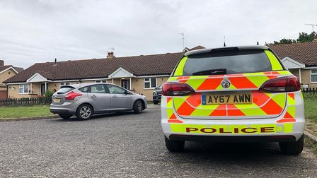 Police officers are investigating an 'unexplained death' at a house in Waterford Road, Ipswich Pictu
