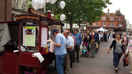Huge crowds are expected to gether for free hogs on Monday, June 10 as The Hot Sausage Company celeb