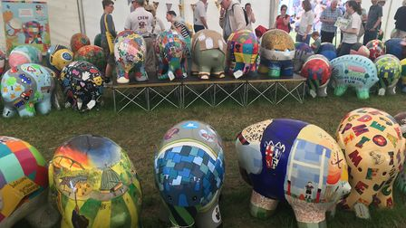 The colourful Elmer's Learning Herd were a big attraction at the Suffolk Show Picture: SUZANNE DAY