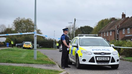 Police attend the scene of an incident in Waterford Road, Ipswich Picture: SARAH LUCY BROWN
