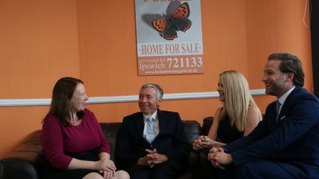 The team at Foxhall Estate Agents, Emma Ford, Jonathan Waters, Jenna Arnold and Kevin Harmer Pictur