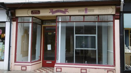 The former Jonathan Waters Estate Agents office in the Buttermarket, Ipswich. At one time the compan