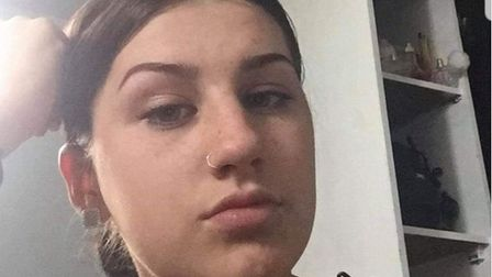 Catelyn Steward, aged 16, who has gone missing in Ipswich Picture: SUFFOLK CONSTABULARY