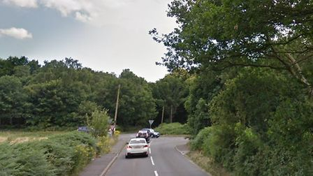 The accident took place in Bell Lane at the junction with Foxhall Road. Picture: GOOGLE MAPS