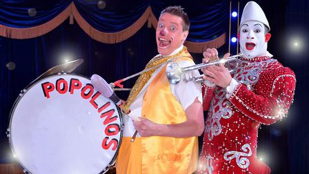 Banging the drum for Circus Wonderland, which is at Trinity Park, Ipswich this week. Picture: ANDRE