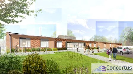An artist impression of the new special school planned for the former Holywells High School site in