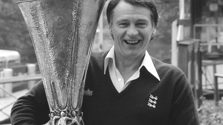 Sir Bobby Robson with the UEFA cup Picture: IPSWICH TOWN FC