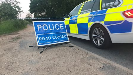 The police cordon at the scene of a separate accident on Thursday night in Bell Lane, involving a yo
