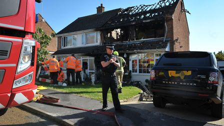 A family left homeless after a house fire are still living in a hotel, a month after the blaze. Pict