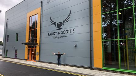 Scott Russell, founder and chief executive of Paddy & Scott's, outside the new Fuelling Station at t
