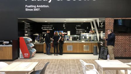 The new Paddy & Scott's Fuelling Station at the Clip 'n Climb centre in Ipswich Picture: PADDY & SC