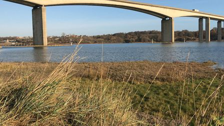 A crash on the approach to the Orwell Bridge in Suffolk is causing delays. Picture: ARCHANT