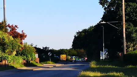 A crash at the junction between Foxhall Road and Bell Lane in Ipswich Picture: ARCHANT