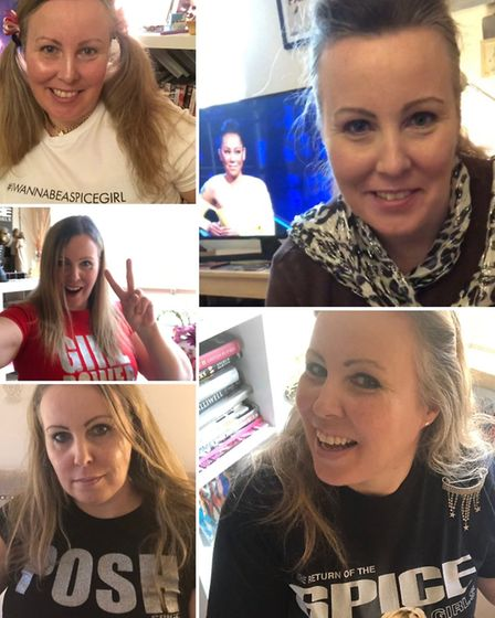 Angela Wright is wearing a Spice Girls t-shirt every day in a bid to be named as the band's best eve