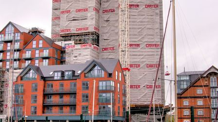 The first collection of apartments at Ipswich's Winerack have been completed. Photo: New Anglia LEP.