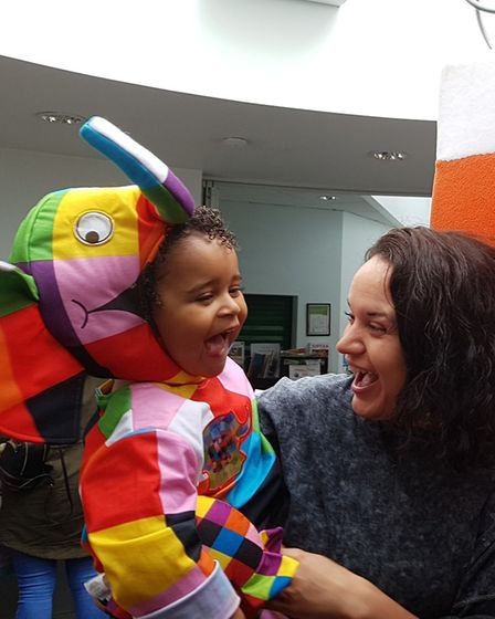 Everyone is excited for Elmer - one child is actually turning into a patchwork elephant Picture: RAC