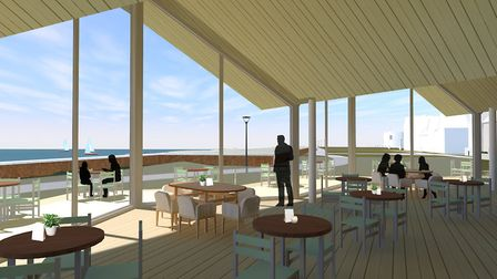 A CGI of the inside of the Beach Cafe for Martello Park, Felixstowe Picture: PLAICE DESIGN CO LTD